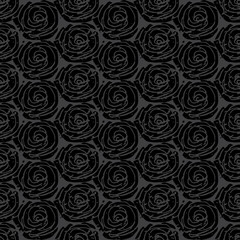 Gray simple rose pattern
