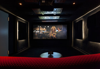 Private cinema at modern house