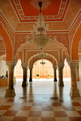 Interior fragment of City Palace in Jaipur
