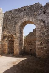 Room inside public baths at Aptera, Crete