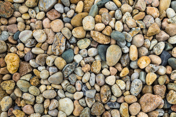 Colorful pebbles or varying size and shape