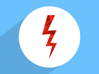 Lightning  ,Flat design style