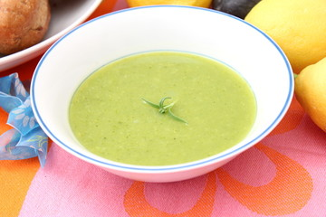 grüne Suppe