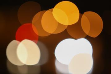 color round bright light spots