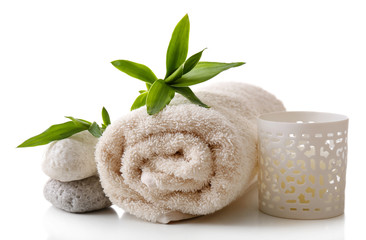 Spa setting isolated on white