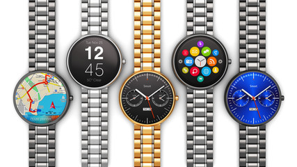 Collection of luxury smart watches