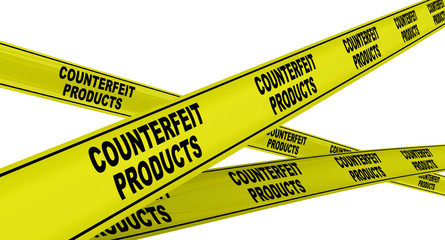 Counterfeit products. Yellow ribbon