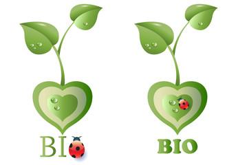 Two Eco Bio Symbols