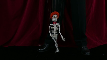 Dancing Skeleton Puppet