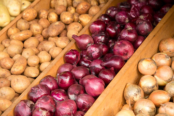 onions and potatos.
