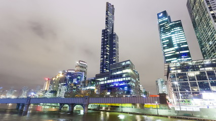 Hyperlapse video of the skyscrapers in Melbourne