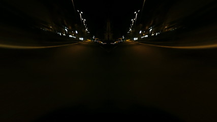 Bizarre timelapse streets night lonely city