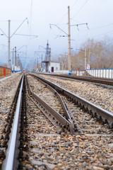 Rails, cross ties, columns, wires