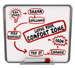 canvas print picture - Leave Your Comfort Zone Push Yourself Change Grow Diagram