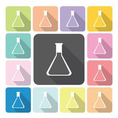 Flask Icon color set vector illustration