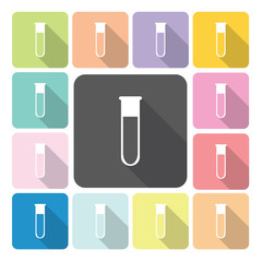 Flask Icon color set vector illustration