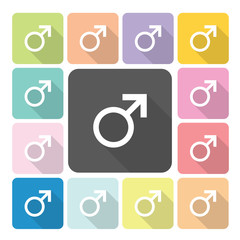 Male Icon color set vector illustration