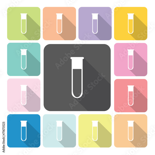 Flask Icon color set vector illustration - 71673523