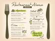 Restaurant Placemat Menu Design Template Layout - 71673724