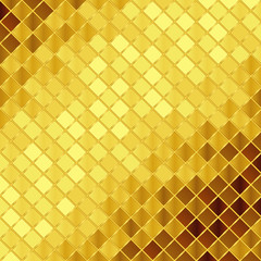 Vector golden mosaic background
