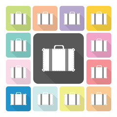 Bag Icon color set vector illustration.