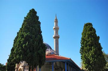 Минарет мечети Сулеймана в городе Родос