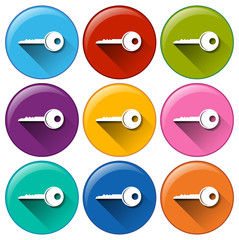 Buttons with keys