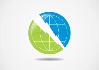 planet globe world eart green blue