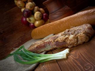 delicious Jerk  pork belly