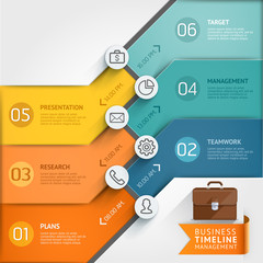 Timeline infographic template. Vector illustration.