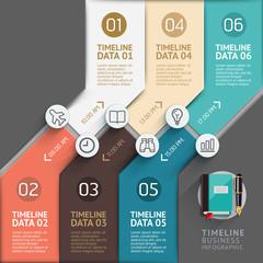 Timeline infographic template. Vector illustration.