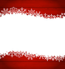 Christmas frame made of snowflakes with copy space for your text