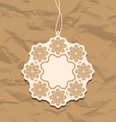 Christmas blank badge, vintage style