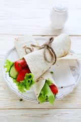 snack in pita bread