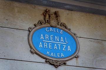 Calle Arenal. Areatza Kalea