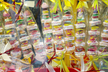 Close-up background of candies