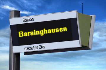Anzeigetafel 6 - Barsinghausen