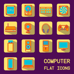 flat computer icons