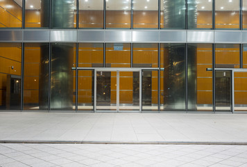 modern office building entrance exterior