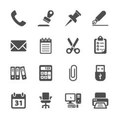 office supplies icon set, vector eps10