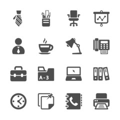 office work icon set, vector eps10