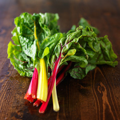 bunch of fresh rainbow chard
