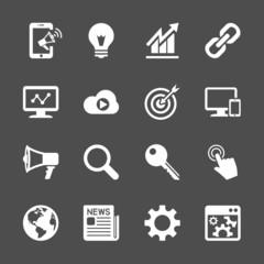 seo and internet marketing icon set, vector eps10