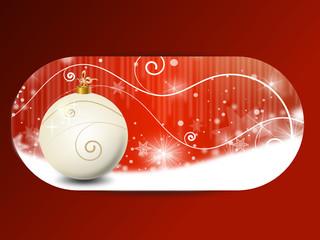 weihnachten landschaft banner rot