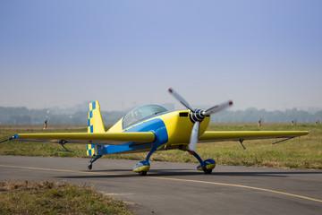 Sports plane landing