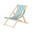 Striped sunchair isolated over white background. Vector - 71677519