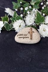 Stein mit Grabspruch