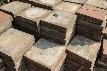 Stacks of interlocking stones
