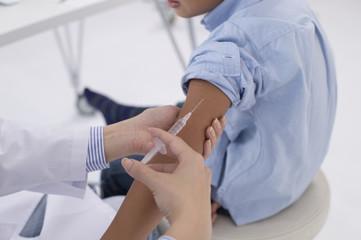 Children afraid of vaccination