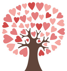 Hearts tree - pink